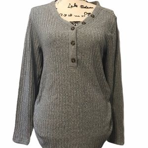 Isabel Maternity Ingrid & Isabel Grey Sweater NWT